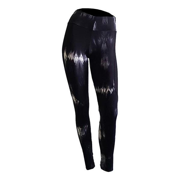 Calça Legging c/ tela sobreposta - Feminina
