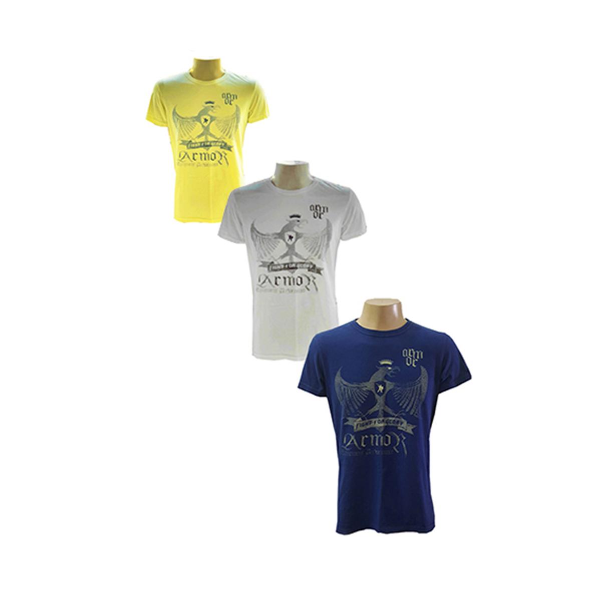 Camisa de malha manga curta Fênix 100% algodão