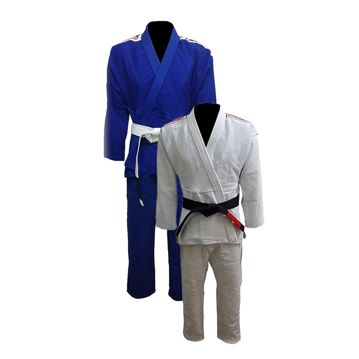 Kimono de Jiu-Jitsu Light Reforçado 100% algodão com Reforço nas axilas, costas, joelhos e peito