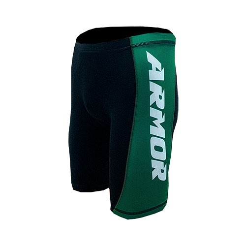 Short Compressão Masculino Armor Fight - Verde Lateral