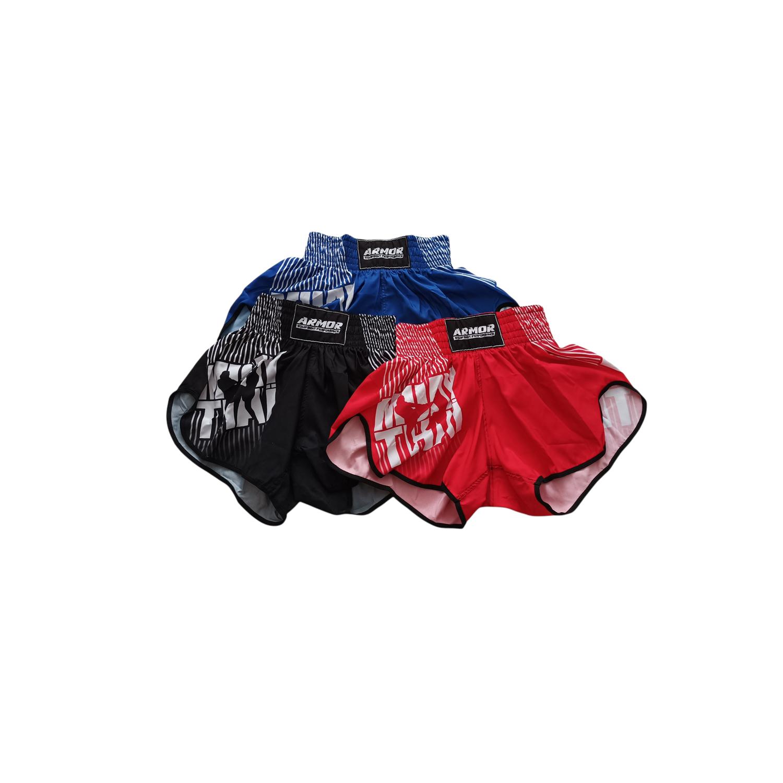 Short de Muay Thai Modelo Curto com Abertura Lateral e Cintura Elástica