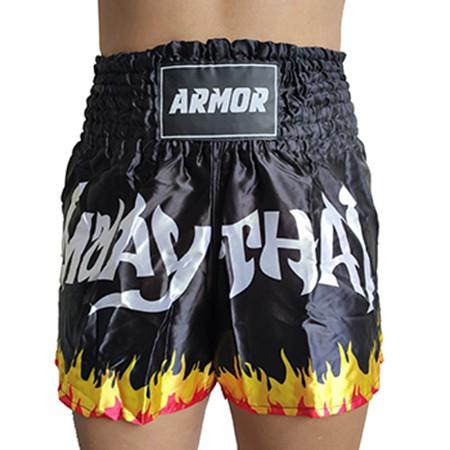 Short Muay Thai Armor Fight Fogo