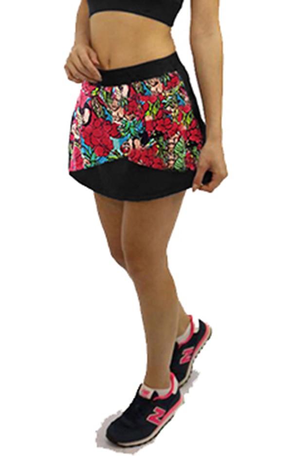 Short Saia Estampado Floral