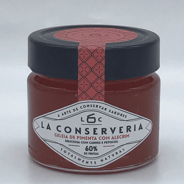 GELEIA PREMIUM DE PIMENTA COM ALECRIM 195G - LA CONSERVERIA