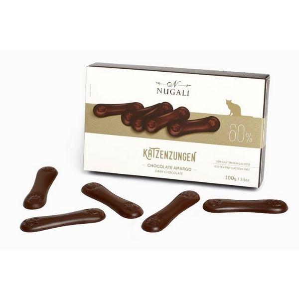KATZENZUNGEN CHOCOLATE AMARGO 60% - NUGALI