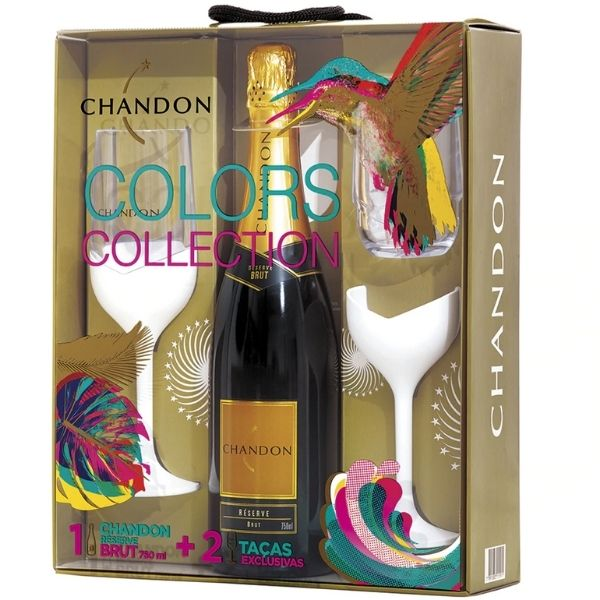 KIT CHANDON BRUT 750ML 2 TACAS
