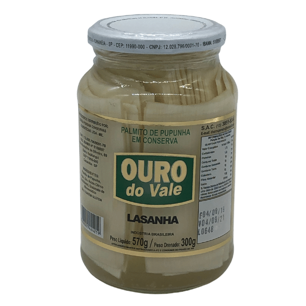 PALMITO PUP LASANHA 300G OURO DO VALE