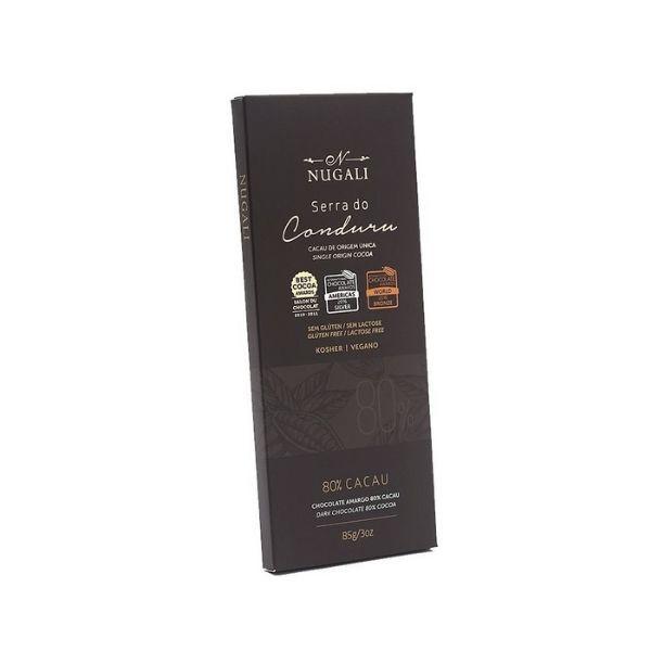 TABLETE CHOCOLATE SERRA DO CONDURU 80% - NUGALI