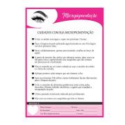 Bloco de Cuidados com a Micropigmentação