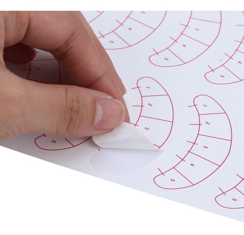 70 Protetores Pálpebra Marcação Alongamento De Cílios (Mapping)