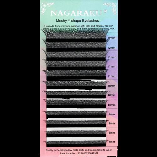 Cílios Nagaraku Y Volume Brasileiro Tam 8 A 12 Mix