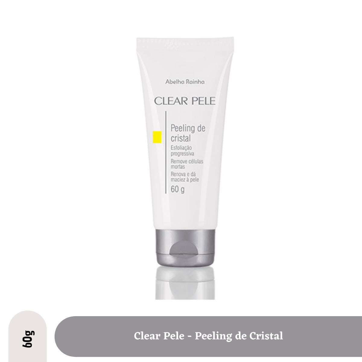 Clear Pele - Limpeza Face Peeling de Cristal 60g