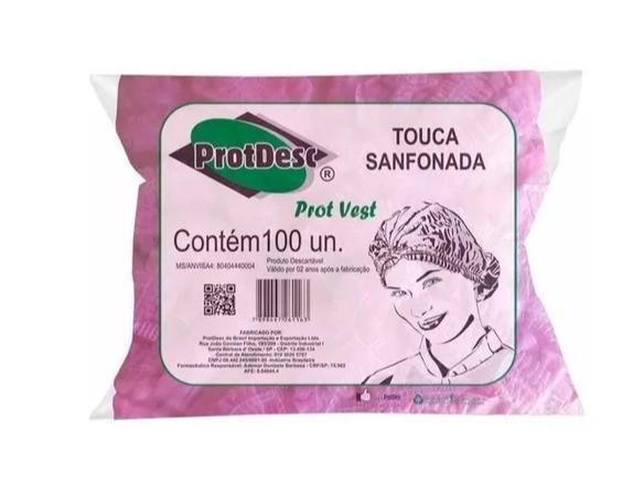 Touca Sanfonada ProtDesc Pct 100un