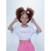 Blusa de malha com detalhes rose teen