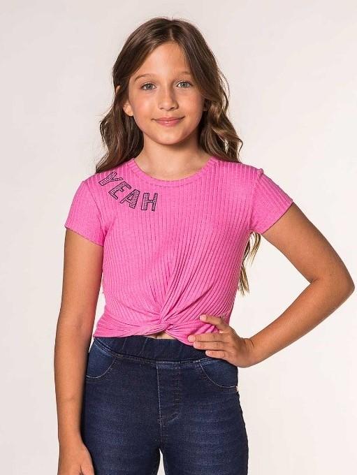 Blusa rosa canelada