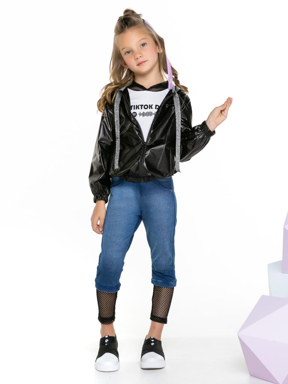 Calça Jeans Confort com detalhes em tela
