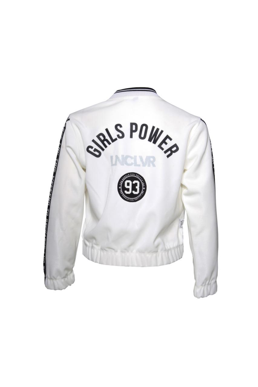 Jaqueta juvenil feminina Teen Branca