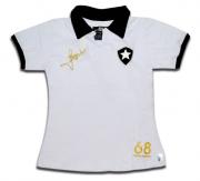 Camisa Botafogo infantil polo retrô Jairzinho - Branca