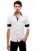 Camisa Botafogo social Hat - Branca / Preta