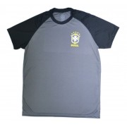 Camisa Brasil Basic CBF - Preto/Chumbo