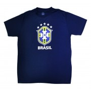Camisa Brasil Logo CBF - Marinho