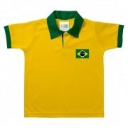 Camisa Brasil polo infantil .