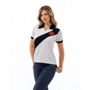Camisa Polo Vasco feminina Paris - Branca