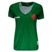 Camisa Vasco feminina goleiro 1 torcedor 2019 Diadora - Verde