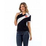 Camisa Vasco polo feminina Paris - Preta
