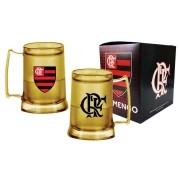 Caneca gel Flamengo dourada escudo CRF - 400ml