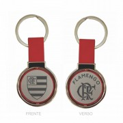 Chaveiro Flamengo em couro