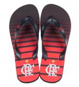 Chinelo Flamengo manto 3 listrado metal