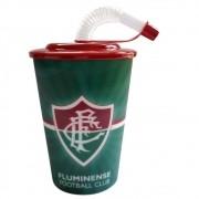 Copo Fluminense 3D com canudo