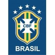 Ímã de geladeira logo da CBF Brasil - Azul