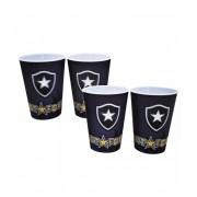 Jogo com 4 copos 3D Botafogo