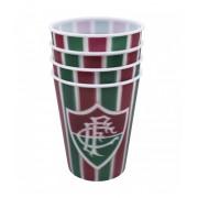 Jogo com 4 copos 3D Fluminense