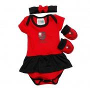 Kit Body 3 peças menina colorido Flamengo.