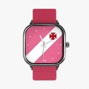 Relógio Vasco Rosa S + Pulseira Nylon Queen