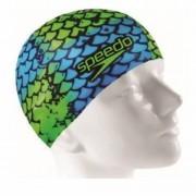 Touca de natação Flat Cap Special Edition Speedo - Azul/Verde