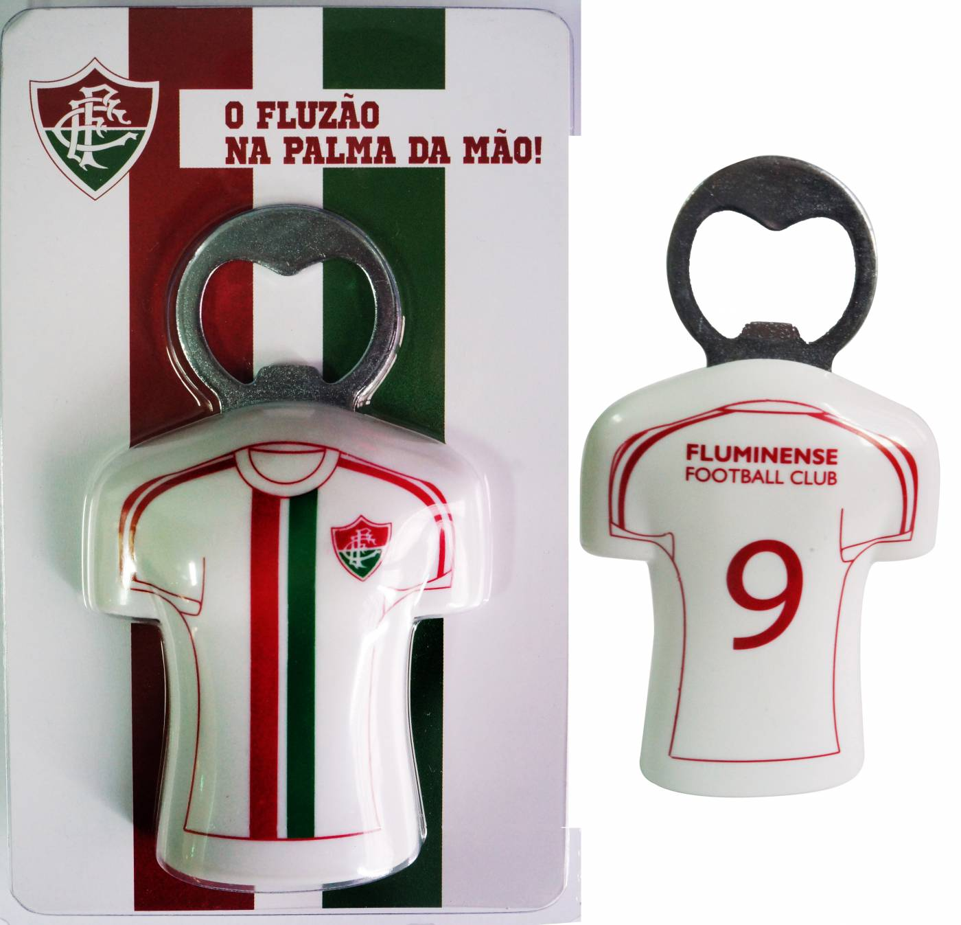 Abridor de garrafa com ímã Fluminense