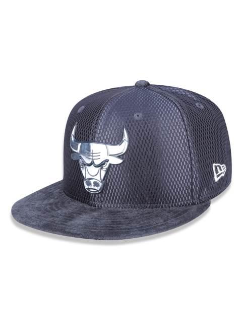 Boné aba reta Chicago Bulls 950 New Era - Cinza