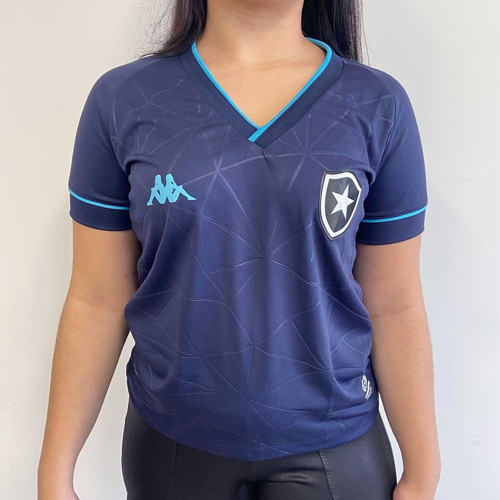 Camisa Botafogo Feminina Goleiro Jogo 4 Kappa 2021 - Azul Marinho