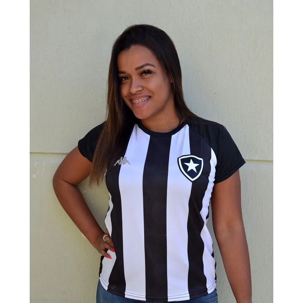 Camisa Botafogo feminina Supporter Alvinegra - Kappa