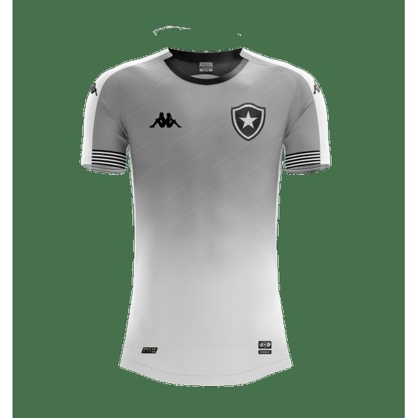 Camisa Botafogo infantil goleiro Jogo 1 Kappa 2020/21 - Cinza/Royal