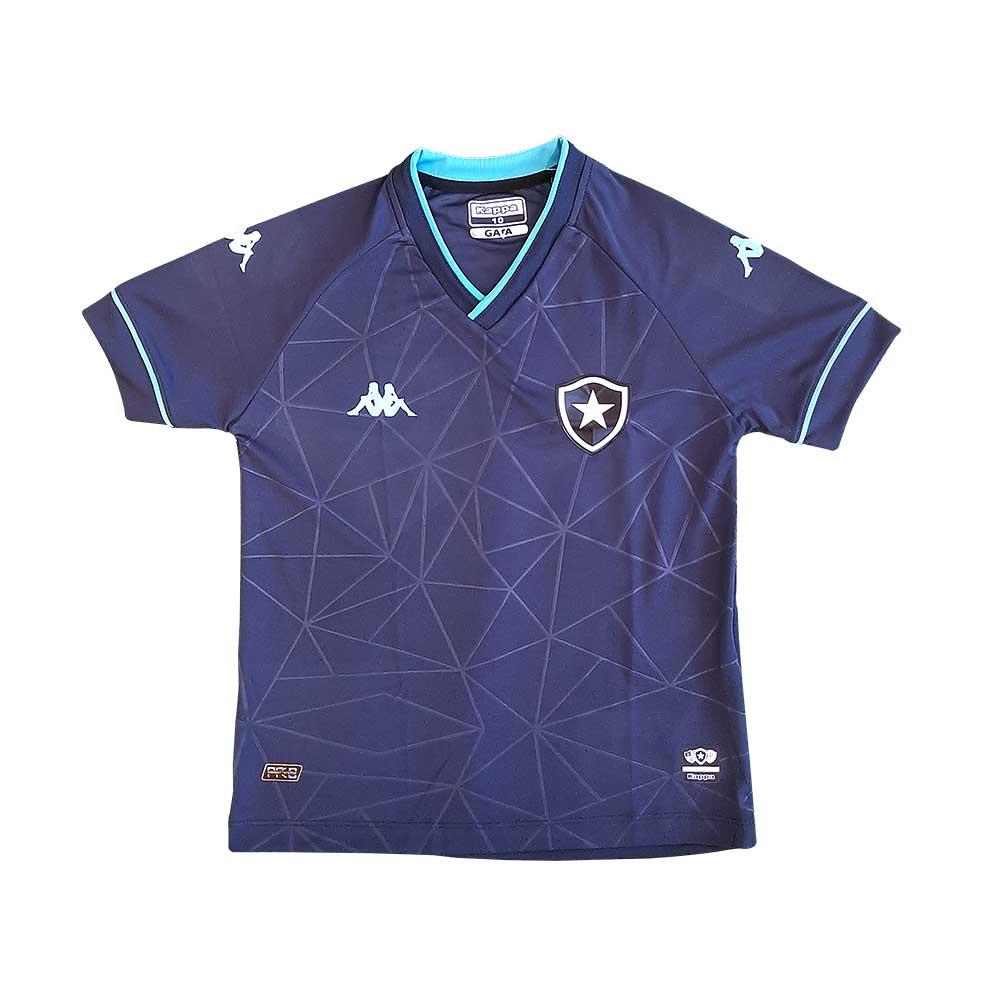 Camisa Botafogo Infantil Goleiro Jogo 4 Kappa 2021 - Azul Marinho