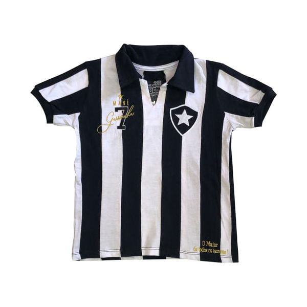 Camisa Botafogo infantil retrô Garrincha