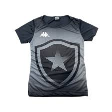 Camisa Botafogo Torcedor Juvenil Kappa 2019/20 - Preta