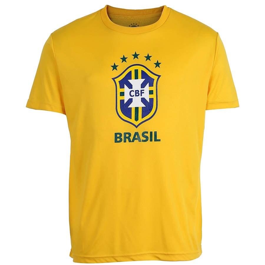 Camisa Brasil Logo CBF - Amarela