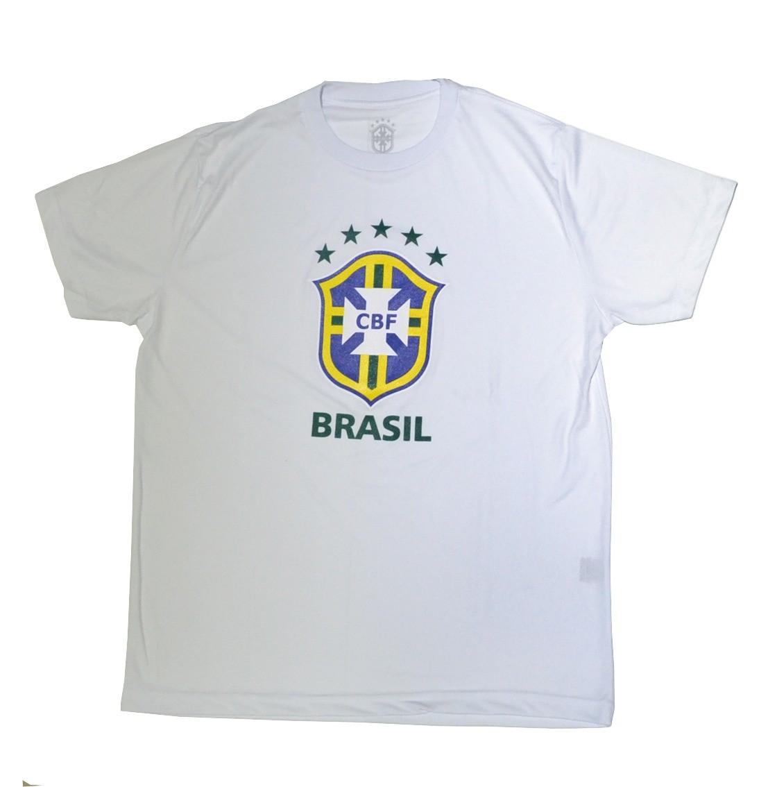 Camisa Brasil Logo CBF - Branca