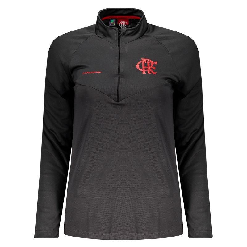 Camisa Flamengo feminina victory manga longa - Cinza